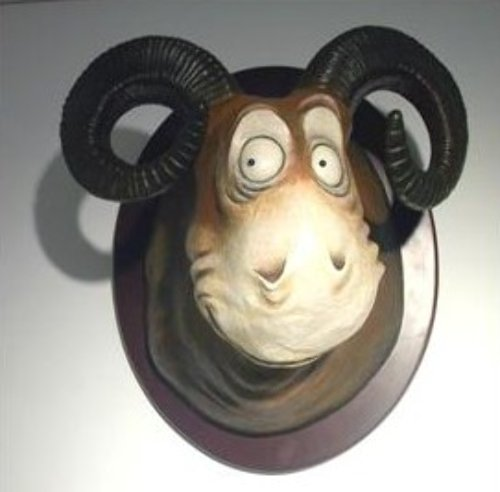 Googoo- Eyed Tasmanian Wolgast Resin Sculpture 2007