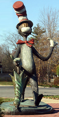 Cat in the Hat Monumental Bronze Sculpture