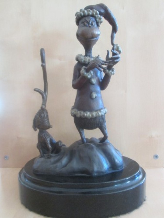 Grinch Bronze Sculpture