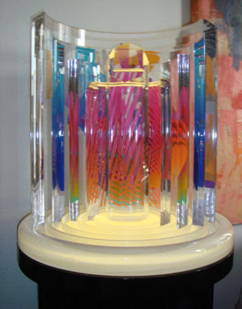 Column Rotonda Lucite  Sculpture 1989