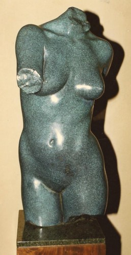 Torso in Motion Bronze Sculpture