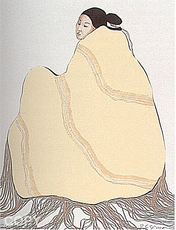 Lady in Yellow Blanket 1977 by R.C. Gorman