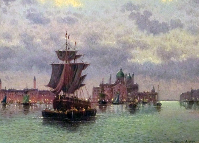 Venice Harbor in the Evening 2014 by Vasily Gribennikov