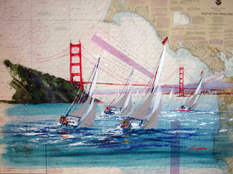 San Francisco on Nautical Chart