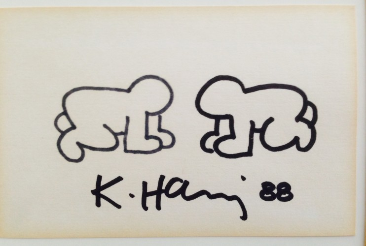 Two Babys Crawl Drawing 1988 by Keith Haring