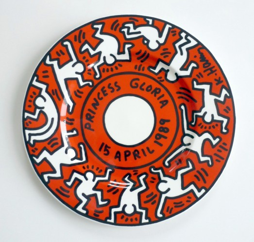Villory And Boch Princess Gloria Porcelain Plate 1989 by Keith Haring