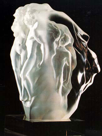 Breath of Life Lucite Sculpture