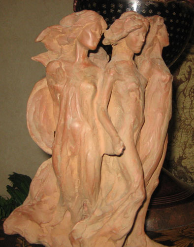 Daughters of Odessa Terracotta Sculpture