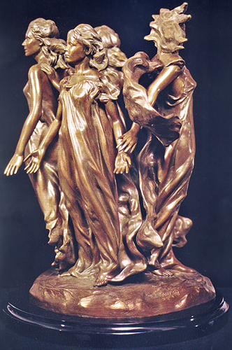 Daughters Of Odessa 1998 1/3 lifesize Bronze Sculpture FP