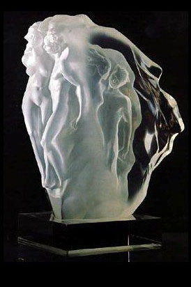 Breath of Life Lucite Sculpture 1990