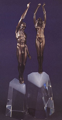 Ascent to Victory 1992 Bronze Sculpture