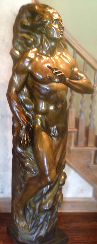Adam Bronze Sculpture 2001 81 in high