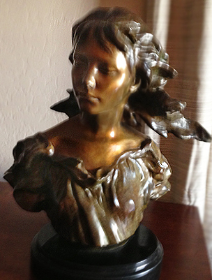 Poetry Bronze Sculpture, 2006  From The Muses Suite