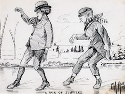 A Pair of Slippers Drawing 1899