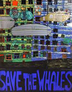 Save the Whales Poster by Friedensreich S. Hundertwasser
