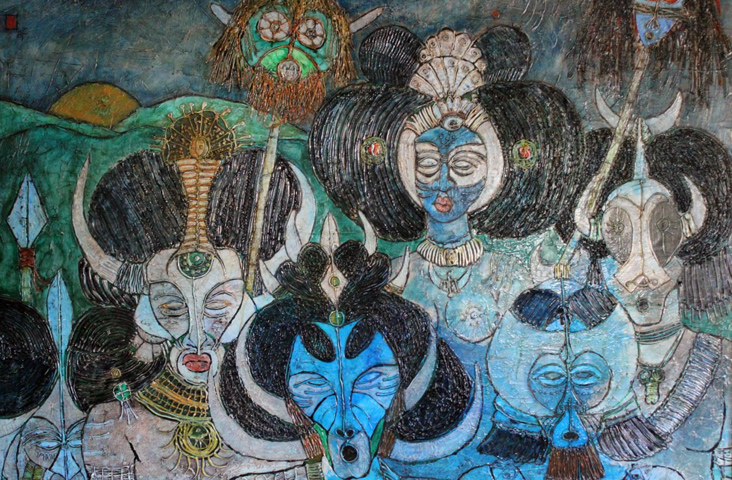 African Tribe 1978  53x78