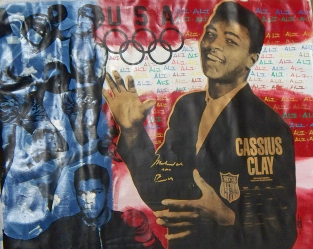 Muhammed Ali Olympic Red White and Blue