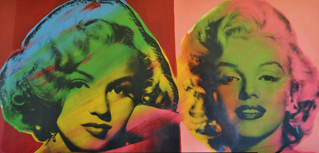Double Marilyn Monroe, Red and Pink