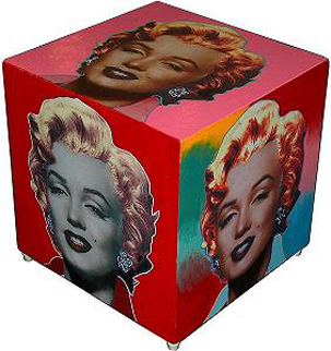 Marilyn Cube Painted Sculpture