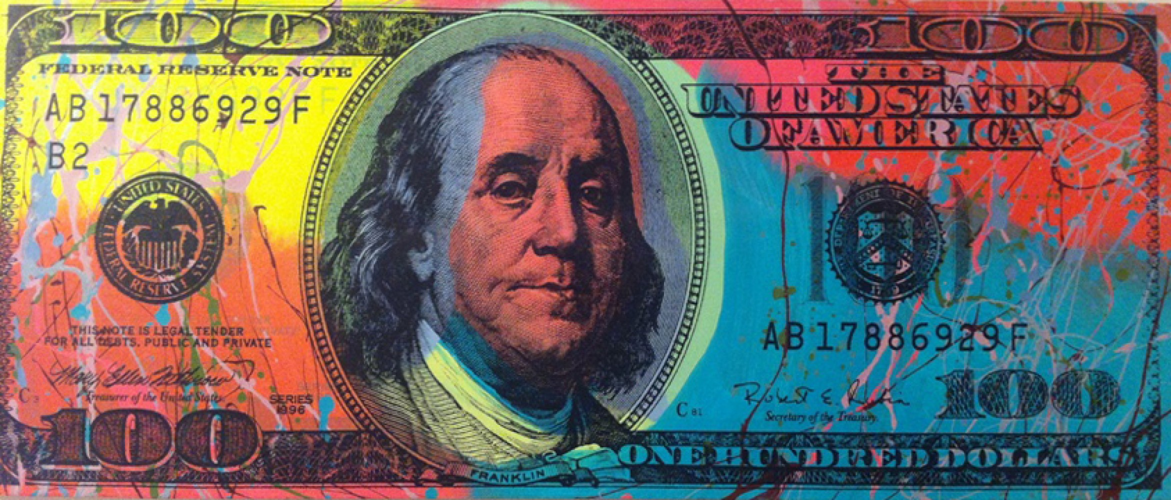 New $100 Dollar Bill - Ben Franklin