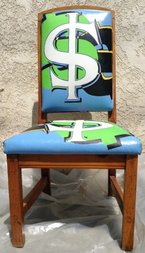 Dollar Sign ($) - Tapestry on Chair 2006