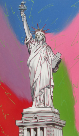 Statue of Liberty - Multicolor With Electric Green 2006