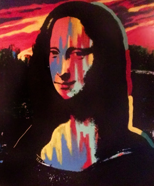 Mona  Lisa Sunset Set of 3 Screenprints with Oil Paint) AP 1995