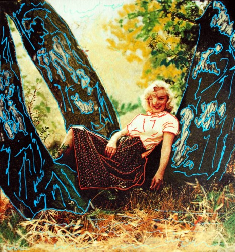 Marilyn Under the Trees Unique 1999 by Steve Kaufman