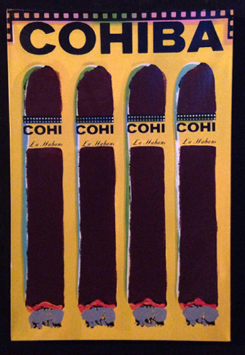 Cuatro Cohibas (Yellow) 1997 by Steve Kaufman