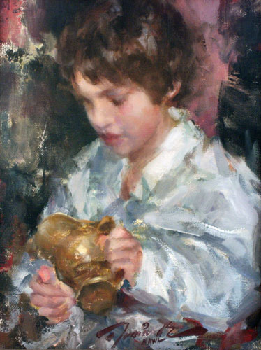 Boy With Brass Pitcher 1992