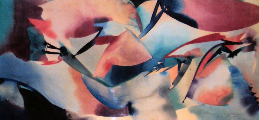 Inside Out Umbrellas Watercolor 1991