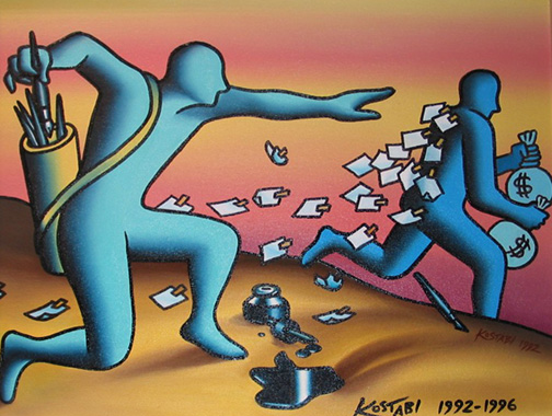 Overnight Mail 1992 by Mark Kostabi