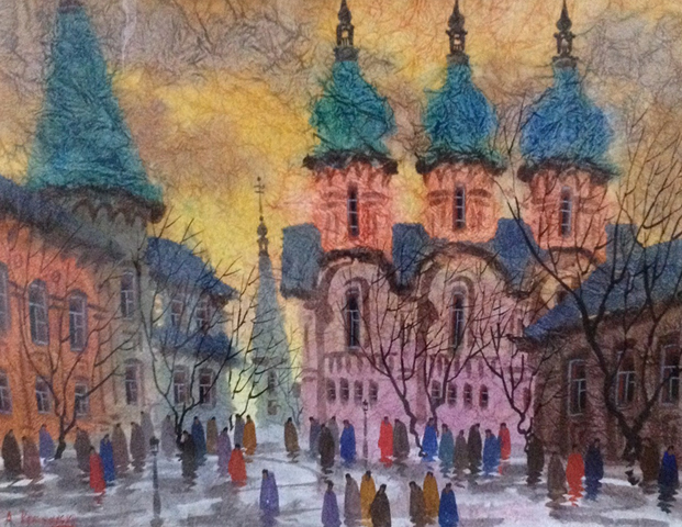 Old Cathedral Watercolor