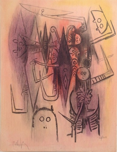 Clairiere From Pleni Luna 1974 by Wifredo Lam