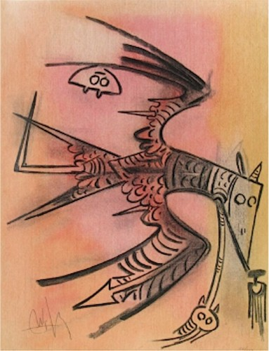 Lune Haute, From Pleni Luna 1974 by Wifredo Lam