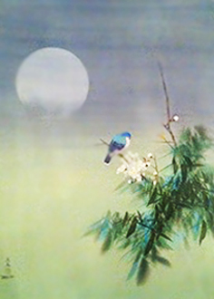 Untitled Moonlight Watercolor 1985