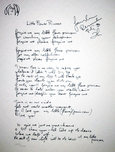 Little Flower Princess Lyrics