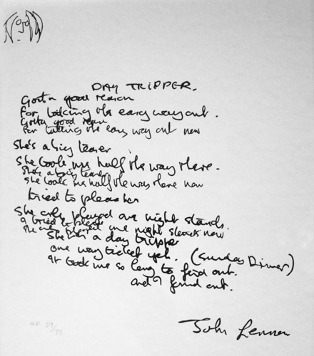 Day Tripper Lyrics AP