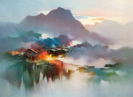 Morning Mist 1980 by Hong Leung