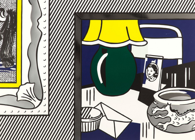 Two Paintings, Green Lamp (From the Paintings Series) 1984 by Roy Lichtenstein