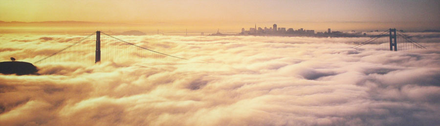 The Lost City (Golden Gate Bridge in the Clouds) by Peter Lik