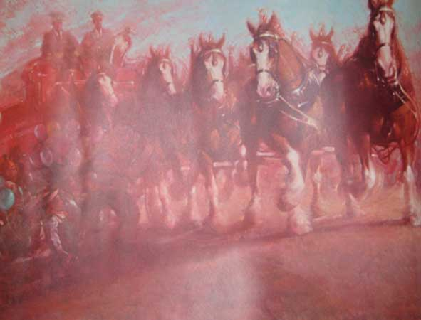 Anheuser Busch Clydesdales 1989