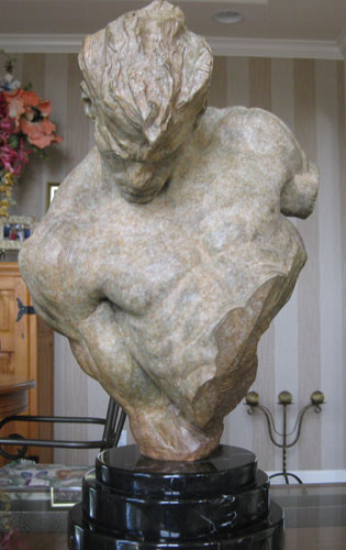 Gymnast Bust 1/2 Lifesize Sculpture 1995