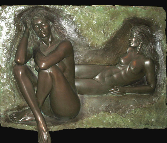 Reflection Bonded Bronze Sculpture