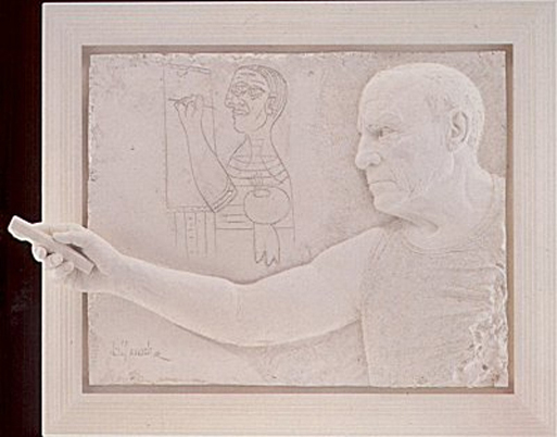 Picasso Bonded Sand Sculpture 1984