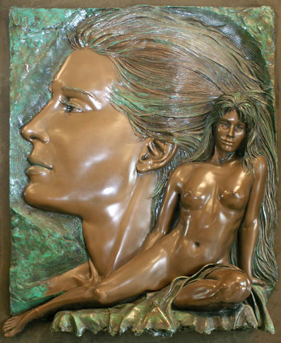 Envision Bronze Relief Sculpture