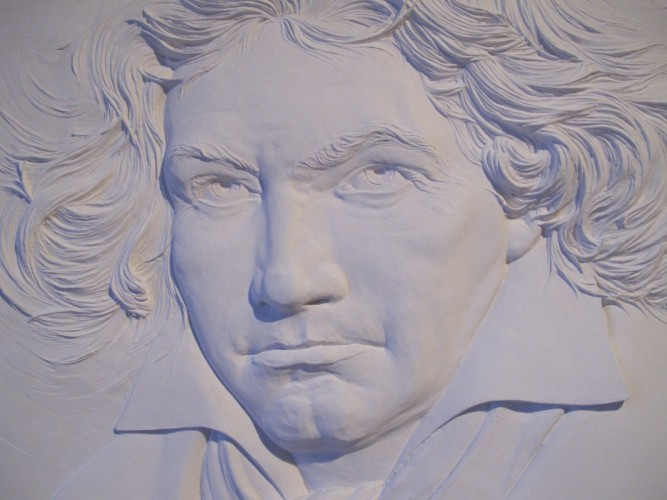 Beethoven Musicmaster Bonded Sand Sculpture TP