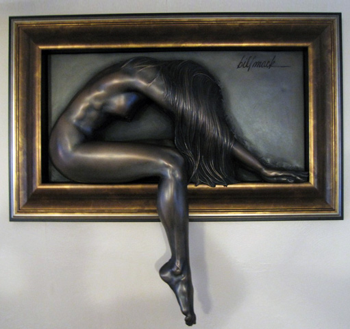 Elusive Bonded Bronze Sculpture AP 2005 by Bill Mack