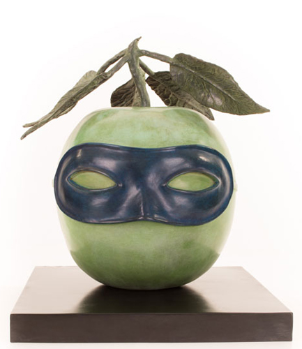 Le Pratre Maria Bronze  Apple  Sculpture 1960