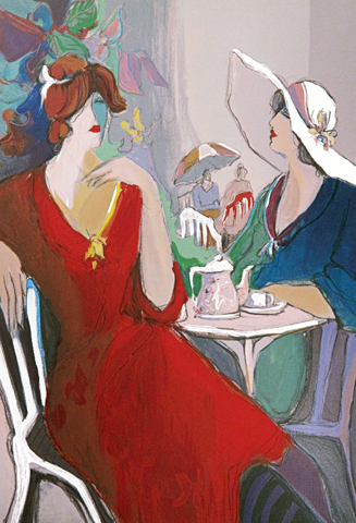 Two Women At Cafe AP